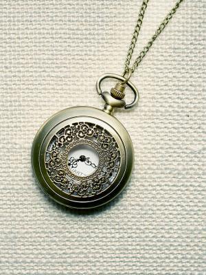 Кулон-часы Кучевые облака (большой) Mitya Veselkov. Цвет: бронзовый
