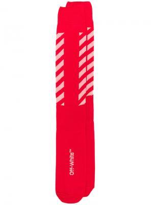 Носки с графическим принтом Off-White. Цвет: красный