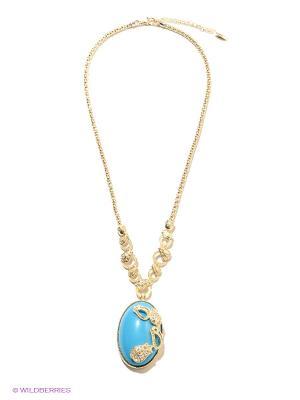 Колье Bijoux Land. Цвет: голубой, золотистый