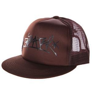 Бейсболка с сеткой  Trucker brown Anteater. Цвет: коричневый