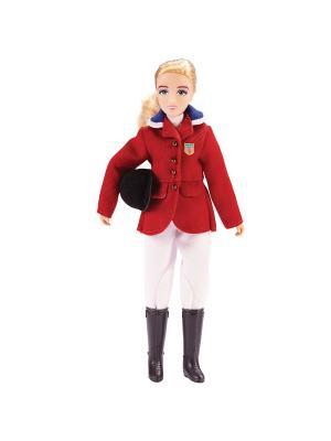 Кукла Бренда в одежде для конкура Breyer. Цвет: красный, белый, черный