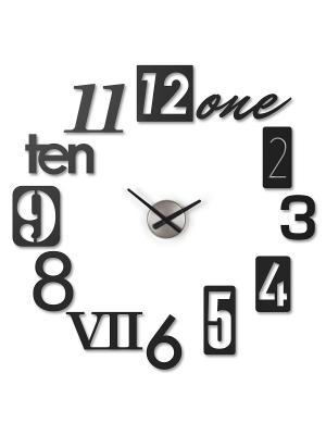 Часы настенные Numbra Umbra. Цвет: черный