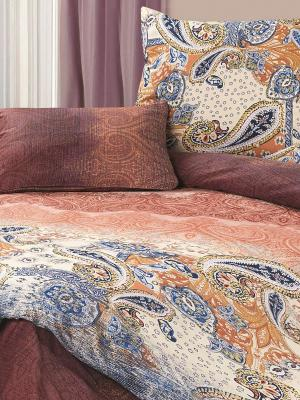 Комплект постельного белья Калькутта ECOTEX. Цвет: коричневый