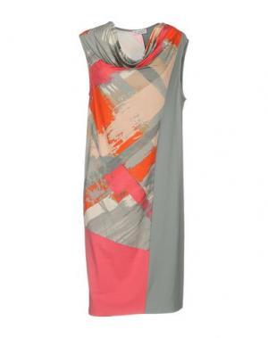 Платье до колена BARONI. Цвет: серый