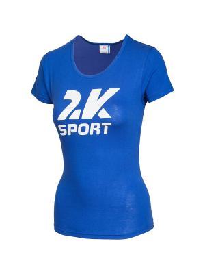 Футболка женская Logo 2K. Цвет: синий