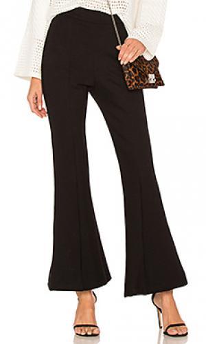 Черные брюки клеш leo sen. Цвет: черный