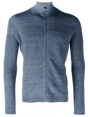 Zip-up knitted sweater Corneliani. Цвет: синий
