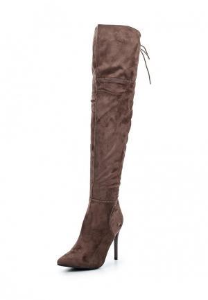 Ботфорты Ideal Shoes. Цвет: коричневый