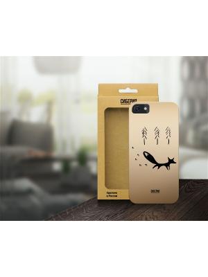 Чехол Хитрый лис для iPhone 5/5S и 6 Siberia by Sleepy. Цвет: золотистый