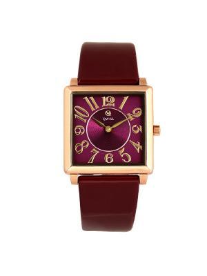 Часы ювелирные коллекция Q-Four QWILL. Цвет: бордовый
