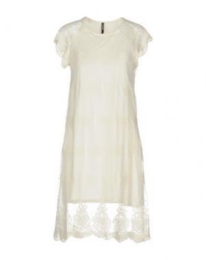 Короткое платье EMPATHIE. Цвет: слоновая кость