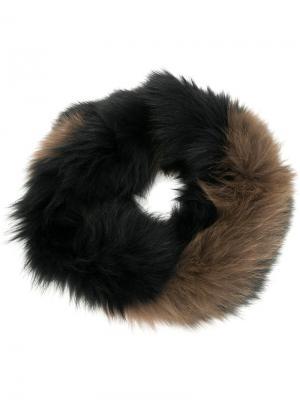 Round collar scarf Yves Salomon Accessories. Цвет: чёрный