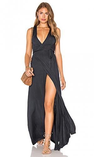 Макси-платье с запахом Gypsy 05. Цвет: аспидно-серый