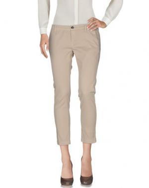 Повседневные брюки RRD. Цвет: бежевый