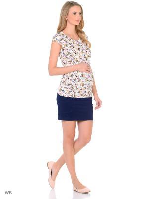 Блузка для беременных и кормления 40 недель. Цвет: бежевый, молочный