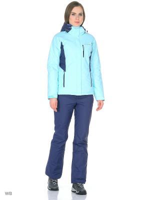 Куртка Columbia. Цвет: голубой