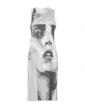Платье до колена ANTHONY VACCARELLO. Цвет: белый