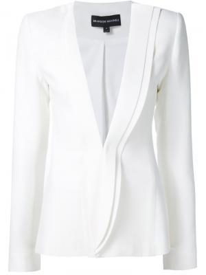 Асимметричный пиджак Brandon Maxwell. Цвет: белый
