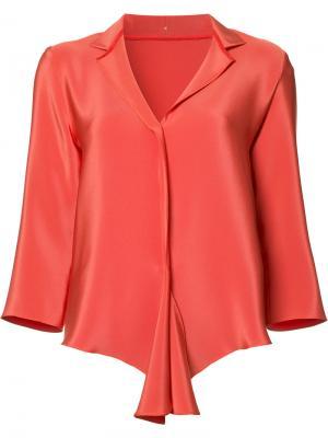 Блузка с V-образным вырезом Peter Cohen. Цвет: жёлтый и оранжевый
