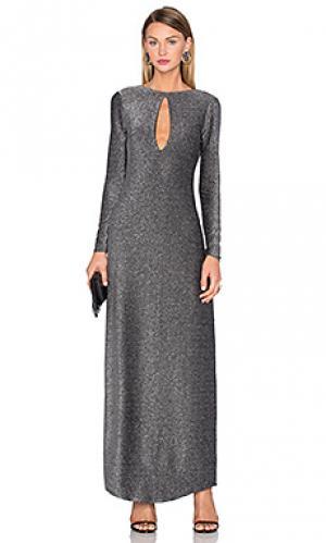 Облегающее макси платье saha House of Harlow 1960. Цвет: металлический серебряный