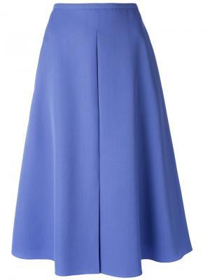 Расклешенная юбка-миди Rochas. Цвет: розовый и фиолетовый