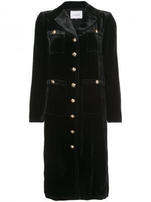 Однобортное пальто на пуговицах Frame Denim. Цвет: чёрный
