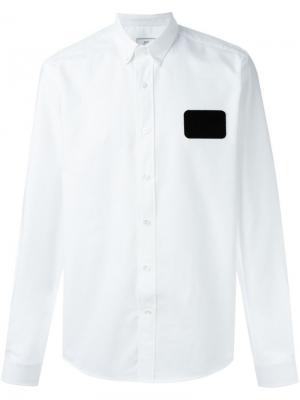 Рубашка с нашивкой в виде бейджа Ami Alexandre Mattiussi. Цвет: белый