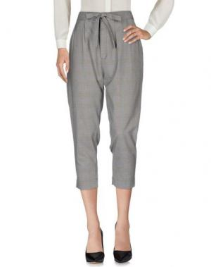 Повседневные брюки NINEMINUTES. Цвет: серый