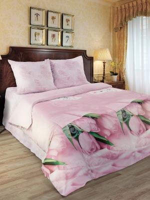 Комплект постельного белья Любимый Дом. Цвет: розовый