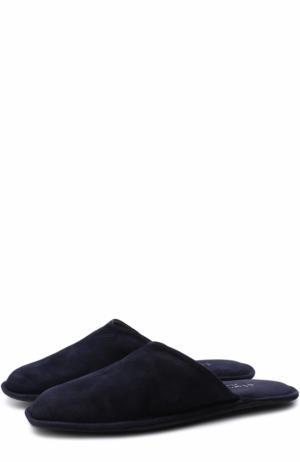 Домашние туфли из замши Homers At Home. Цвет: темно-синий