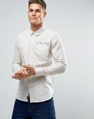 Firetrap Фланелевая рубашка с начесом. Цвет: серый