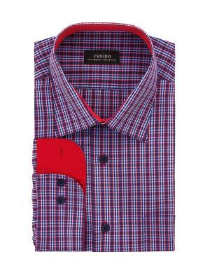 Рубашка CASINO. Цвет: красный, синий