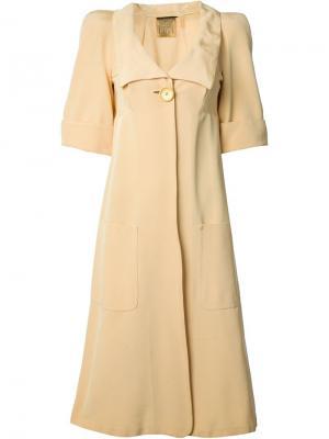 Брючный костюм с пальто Biba Vintage. Цвет: жёлтый и оранжевый