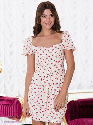 Платье Verezo. Цвет: молочный, красный