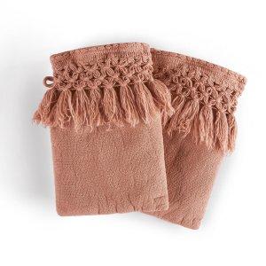 Комплект из 2 рукавичек LaRedoute. Цвет: каштановый