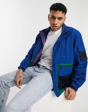 Куртка-дождевик темно-синего цвета в стиле колор блок Levis Headlands Tactical-Темно-синий Levi's
