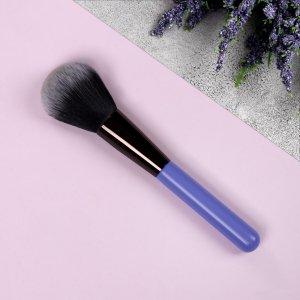 Кисть для макияжа, 17,8 см, цвет сиреневый/чёрный Queen fair