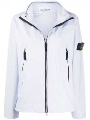 Куртка с воротником-воронкой Stone Island. Цвет: синий