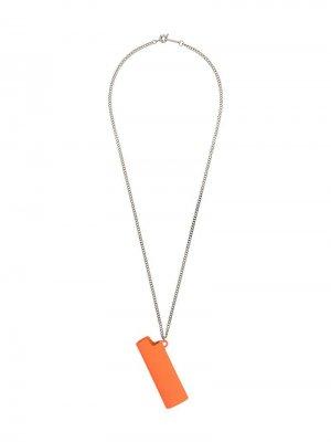 Колье с подвеской в виде зажигалки AMBUSH. Цвет: оранжевый