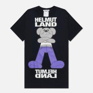 Мужская футболка Helmut Land Mascot Standard Lang. Цвет: чёрный