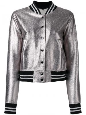 Plain bomber jacket R13. Цвет: серый