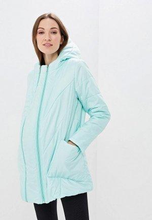 Куртка утепленная Очаровательная Адель. Цвет: бирюзовый