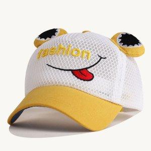 Бейсбольная кепка вышивки письма малышей мальчиков SHEIN. Цвет: многоцветный
