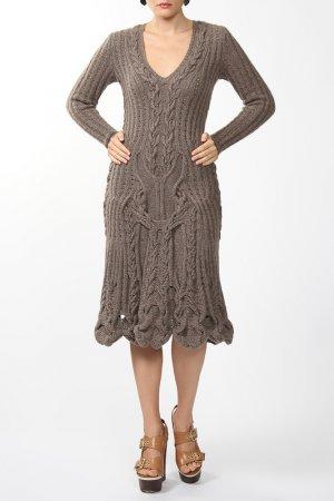 Платье джерси Dennis Basso. Цвет: коричневый