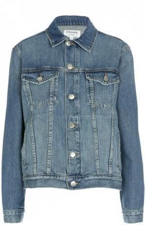 Джинсовая куртка свободного кроя с накладными карманами Frame Denim. Цвет: синий