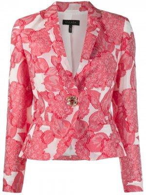 Приталенный пиджак Escada. Цвет: белый