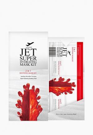 Маска для лица Double Dare Jet двухкомпонентный авиаперелётов ОЧИЩЕНИЕ И УВЛАЖНЕНИЕ со смягчающим эффектом. Цвет: красный