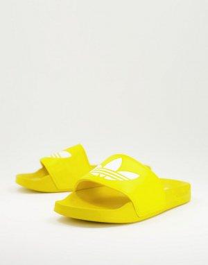 Желтые шлепанцы Adilette Lite-Желтый adidas Originals