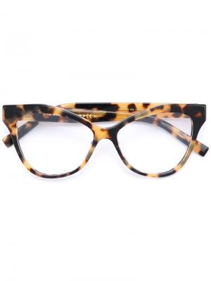 Очки в черепаховой оправе Marc Jacobs. Цвет: телесный