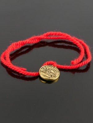 Браслет-оберег красная нить - весы бп9956 Бусики-Колечки
